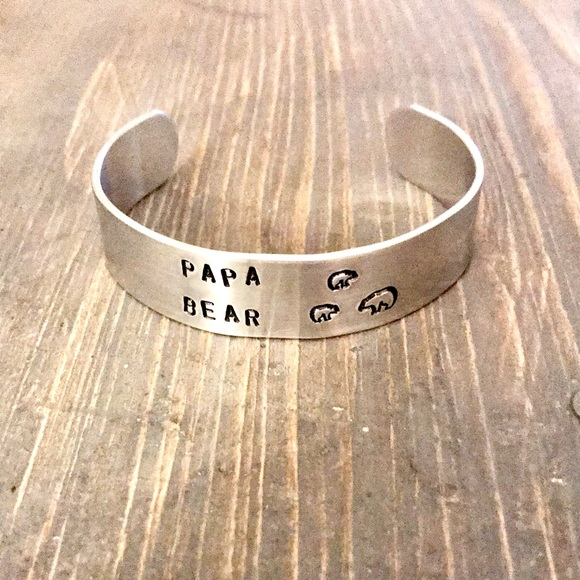 handmade Other - Hand stamped adjustable metal cuff bracelet